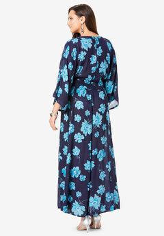 d0e4e020fd4 Crinkle Belted Maxi Dress. Roaman s