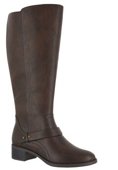 Jewel Plus Wide Calf Boots by Easy Street®, BROWN