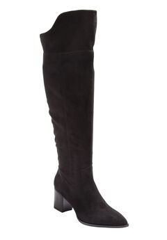The Jinal Wide Calf Boot by Comfortview®, BLACK
