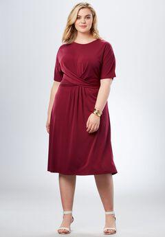 Twist Front Dress,