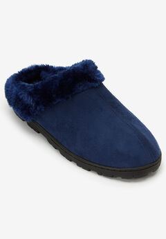 The Andy Clog Slipper by Comfortview®, TWILIGHT NAVY