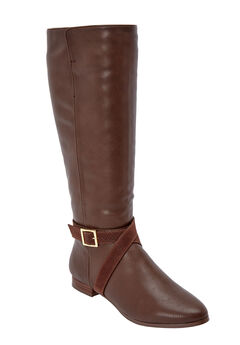 The Arizona Wide Calf Boot by Comfortview®, BROWN
