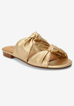 The Jaclyn Sandal by Comfortview®, GOLD