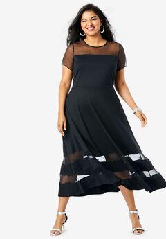 Organza Trim Dress,