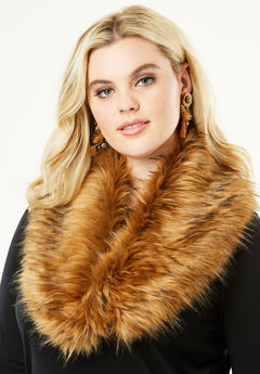 Adjustable Faux-Fur Scarf, FOX