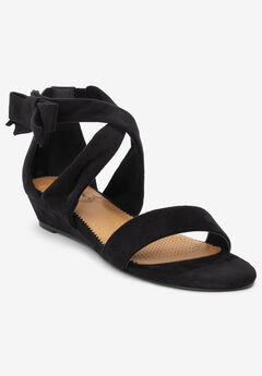 The Hope Sandal by Comfortview®, BLACK