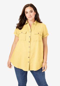 Seersucker Shirt, LEMON MIST