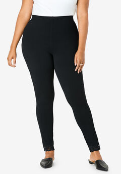 Lace-Trim Essential Stretch Legging,