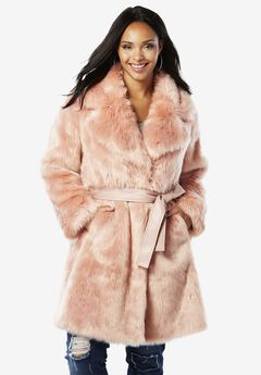 Belted Full-Length Faux-Fur Coat By Donna Salyers Fabulous Furs,
