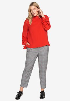 Plaid Cuff Pants Castaluna by La Redoute,