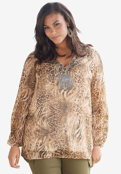Beaded Tunic Blouse,