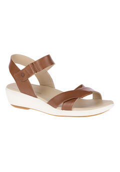 Lyricale Qtr Strap Sandals by Hush Puppies®, TAN LEATHER