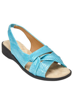 The Pearl Sandal by Comfortview®, TURQUOISE