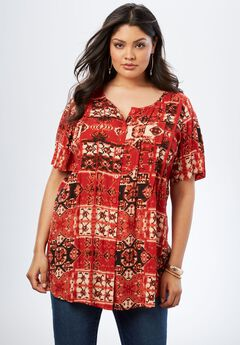Angelina Tunic in Crinkle Crepe,
