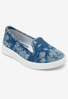 Dottie Sneakers by Comfortview®, CHAMBRAY FLORAL