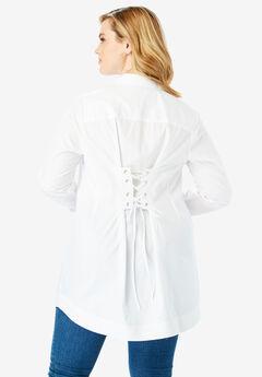 Tie-Back Tunic, WHITE