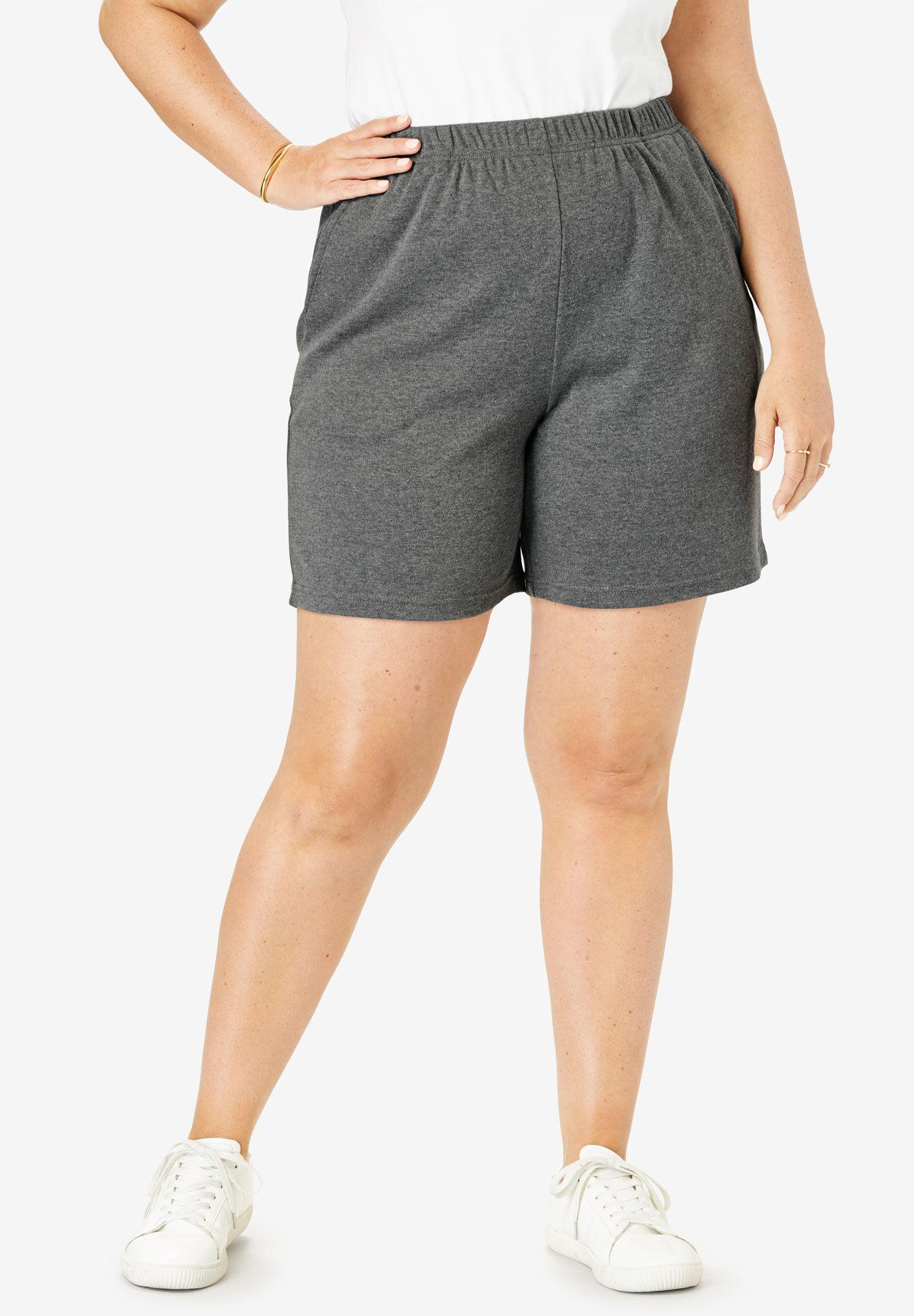 Woman Within Womens Plus Size Fineline Denim Short