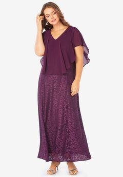 Lace Caplet Dress,