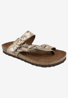 Crawford Sandal by White Mountain, SPARKLING EXOTIC TAUPE