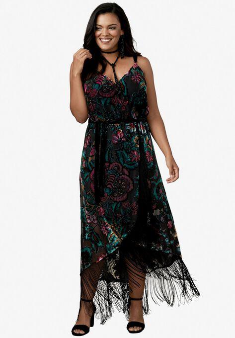 Velvet Fringe Dress