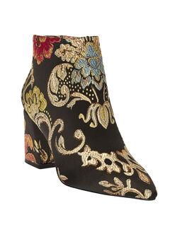 The Jasmine Bootie by Comfortview®, FLORAL METALLIC