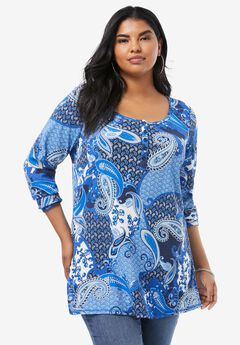 Thermal Henley Tunic,
