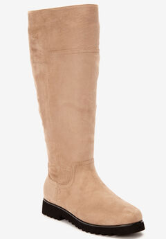 The Gaby Wide Calf Boot by Comfortview®, KHAKI