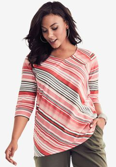 Diagonal Stripe Tee,