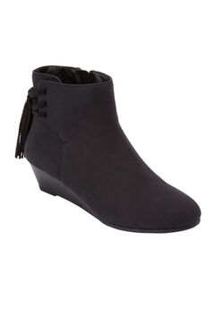 The Evalyn Bootie by Comfortview®, BLACK
