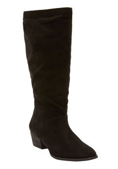 The Felicity Wide Calf Boot by Comfortview®, BLACK