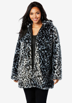Short Faux Fur Coat,