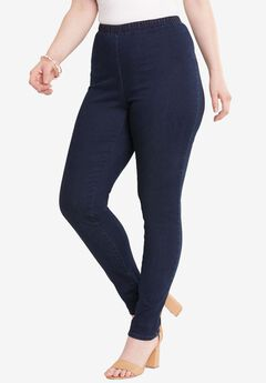 Skinny Pull-On Stretch Pant by Denim 24/7®,