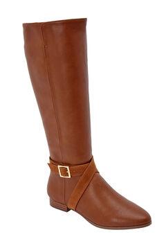 The Arizona Wide Calf Boot by Comfortview®, COGNAC