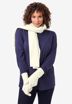 Fleece Gloves, IVORY
