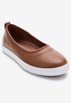 The Laurel Sneaker by Comfortview®, COGNAC