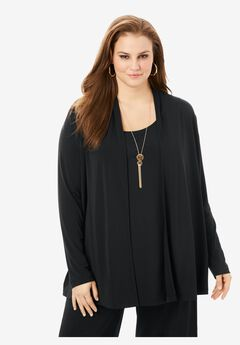 Long-Sleeve Cardigan,