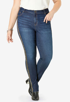 Beaded Stripe Jean by Denim 24/7®,