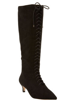 The Marni Wide Calf Boot by Comfortview®, BLACK