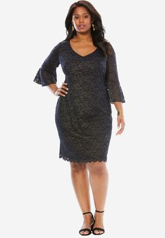 Lace Sheath Dress by Alex Evenings,