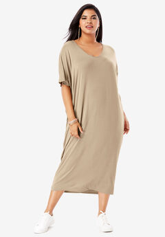 Drape Caftan with Dolman Sleeves,