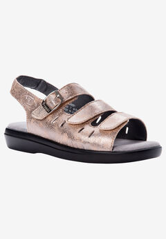 Breeze Sandal by Propet®, PEARL PEWTER