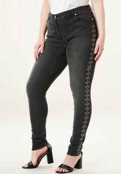 Studded Skinny Jean by Denim 24/7®,