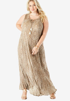5dca1b66fde Crinkle A-Line Maxi Dress