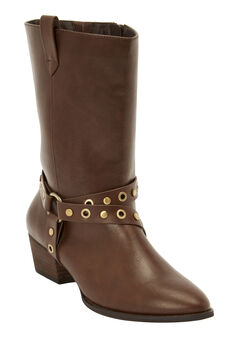 The Gabriella Wide Calf Boot by Comfortview®, BROWN