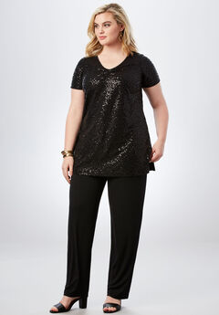 Sequin Pant Set,