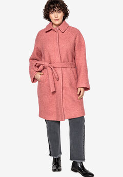 Snap-Front Boucle Coat Castaluna , STRAWBERRY ROSE