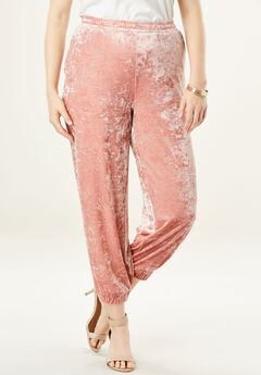 Crushed Velour Jogger,