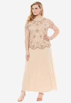 Embellished Bodice A-Line Dress by Pisarro Nights,