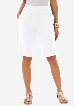 Soft Knit Bermuda Short, WHITE