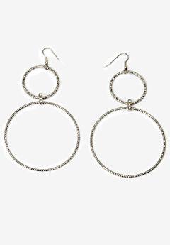 Circle Drop Earrings,